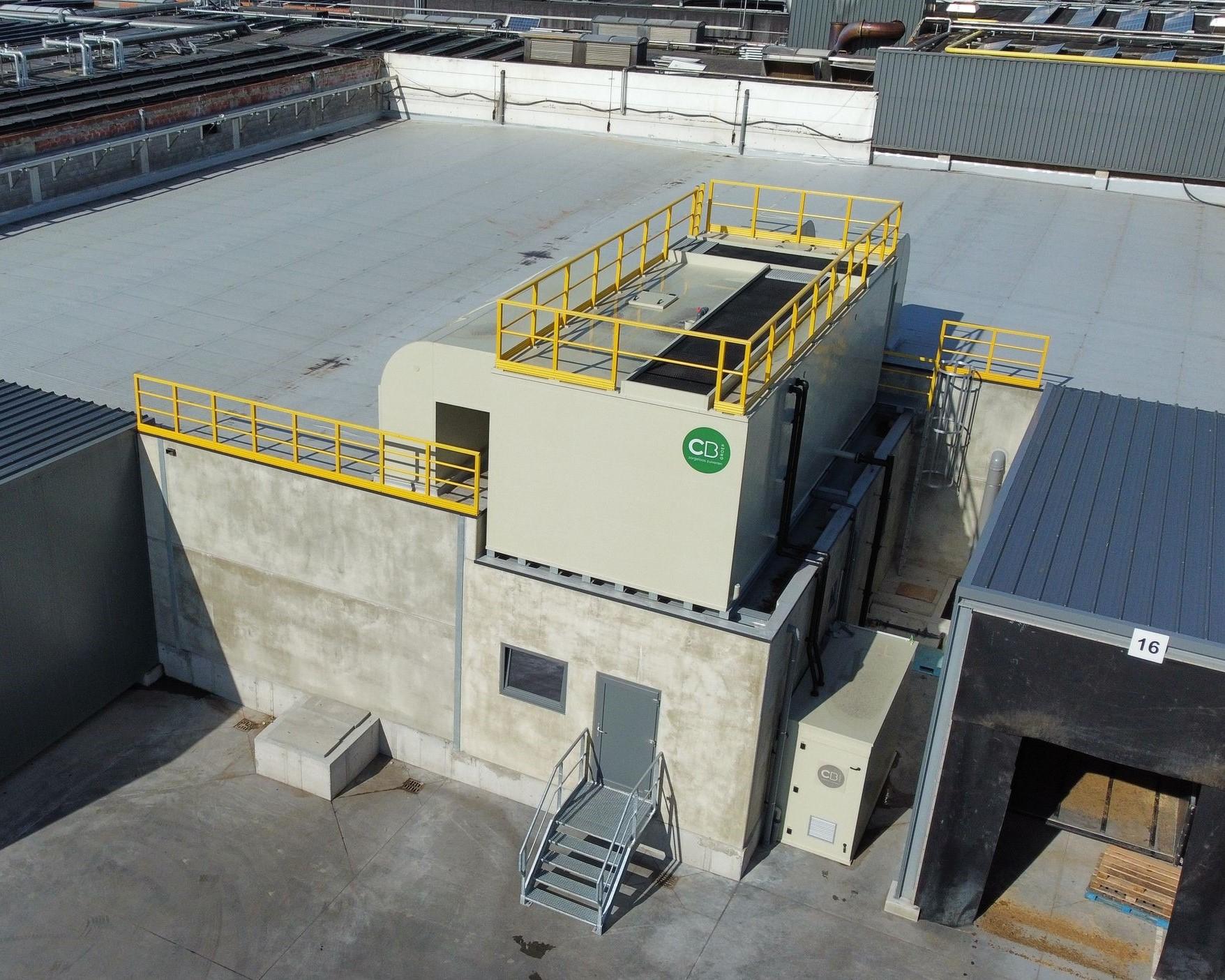 Uitbreiding wachtloods slachthuis met biologisch luchtwassysteem