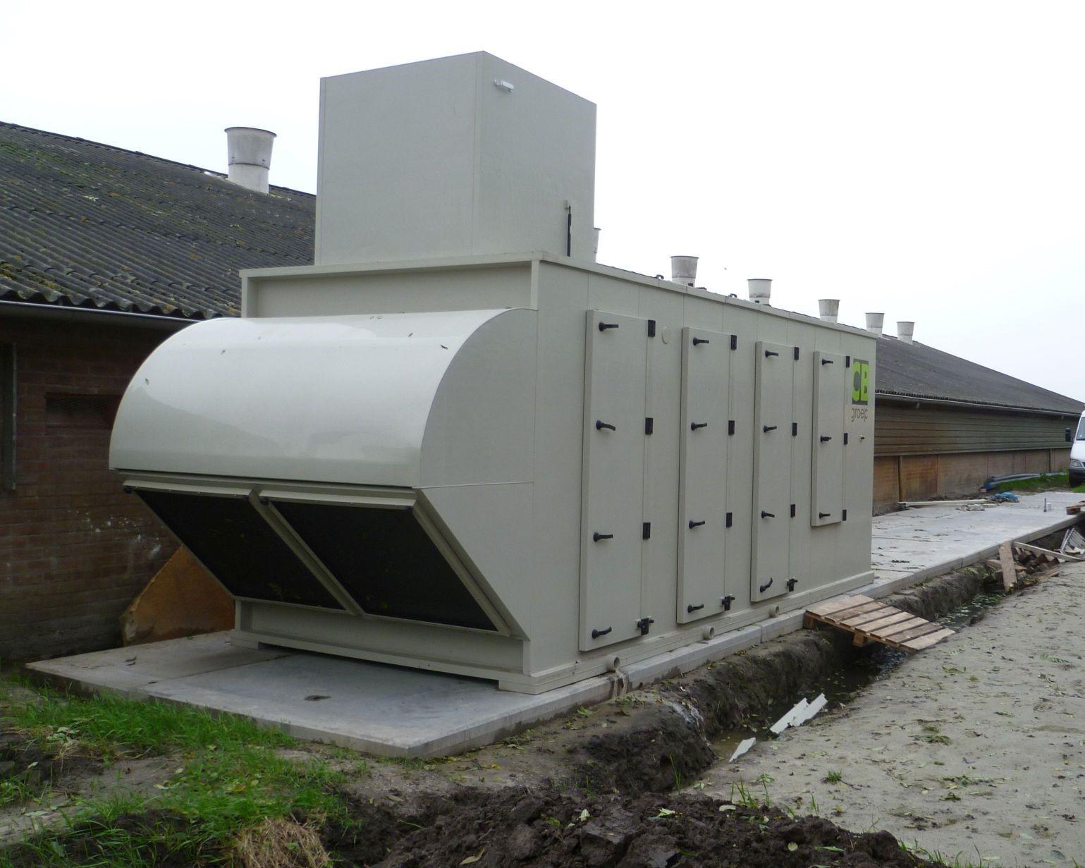Warmtewisselaar op bestaande kippenstal