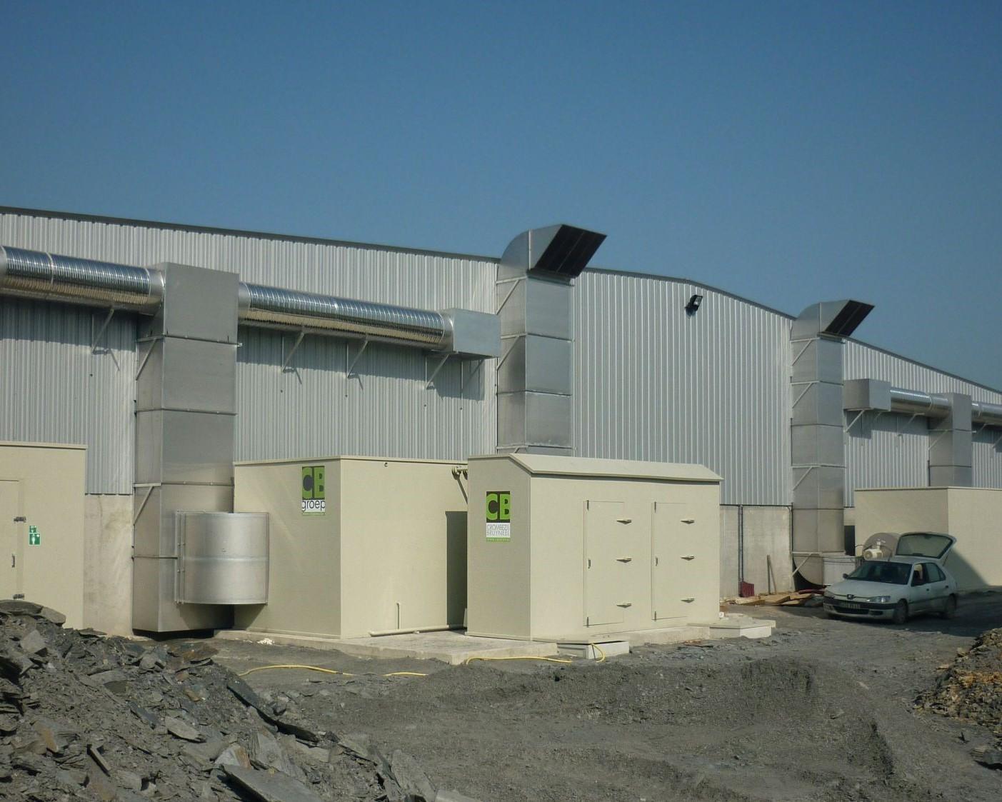 Industriële drie-trapswasser op compostering (Frankrijk)