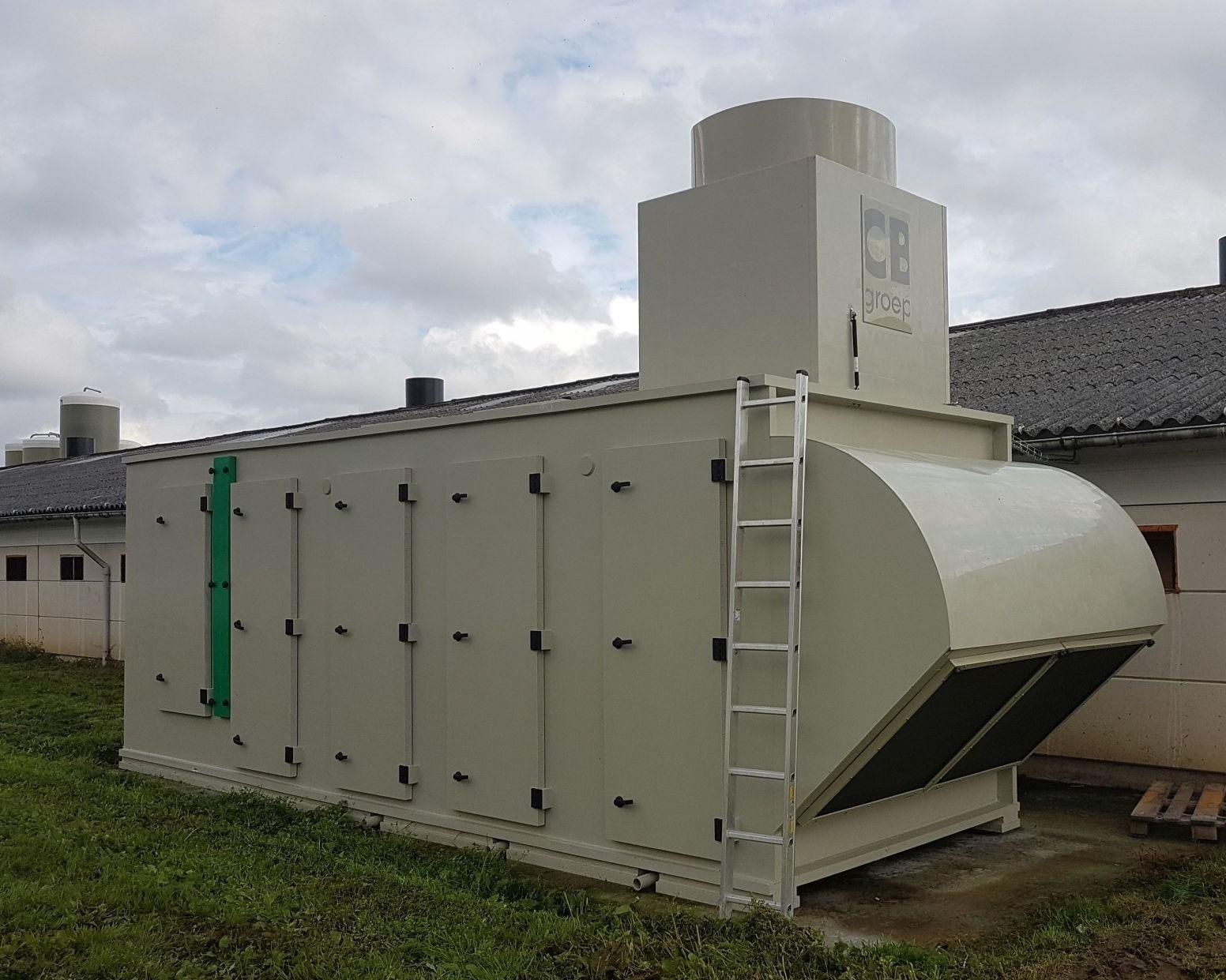 Warmtewisselaar met heaters op bestaande kippenstallen