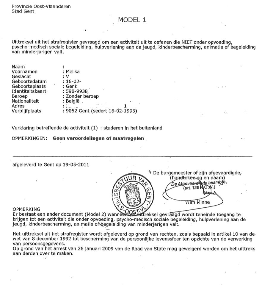 Certificats de bonne vie et moeurs traduits par des traducteurs jurés