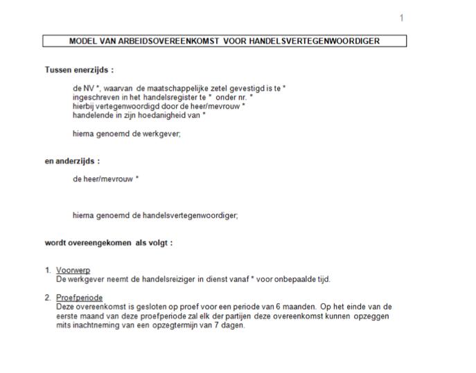 Arbeidsovereenkomsten vertaald door juridische vertalers