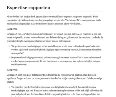Expertiserapporten vertaald door juridische vertalers