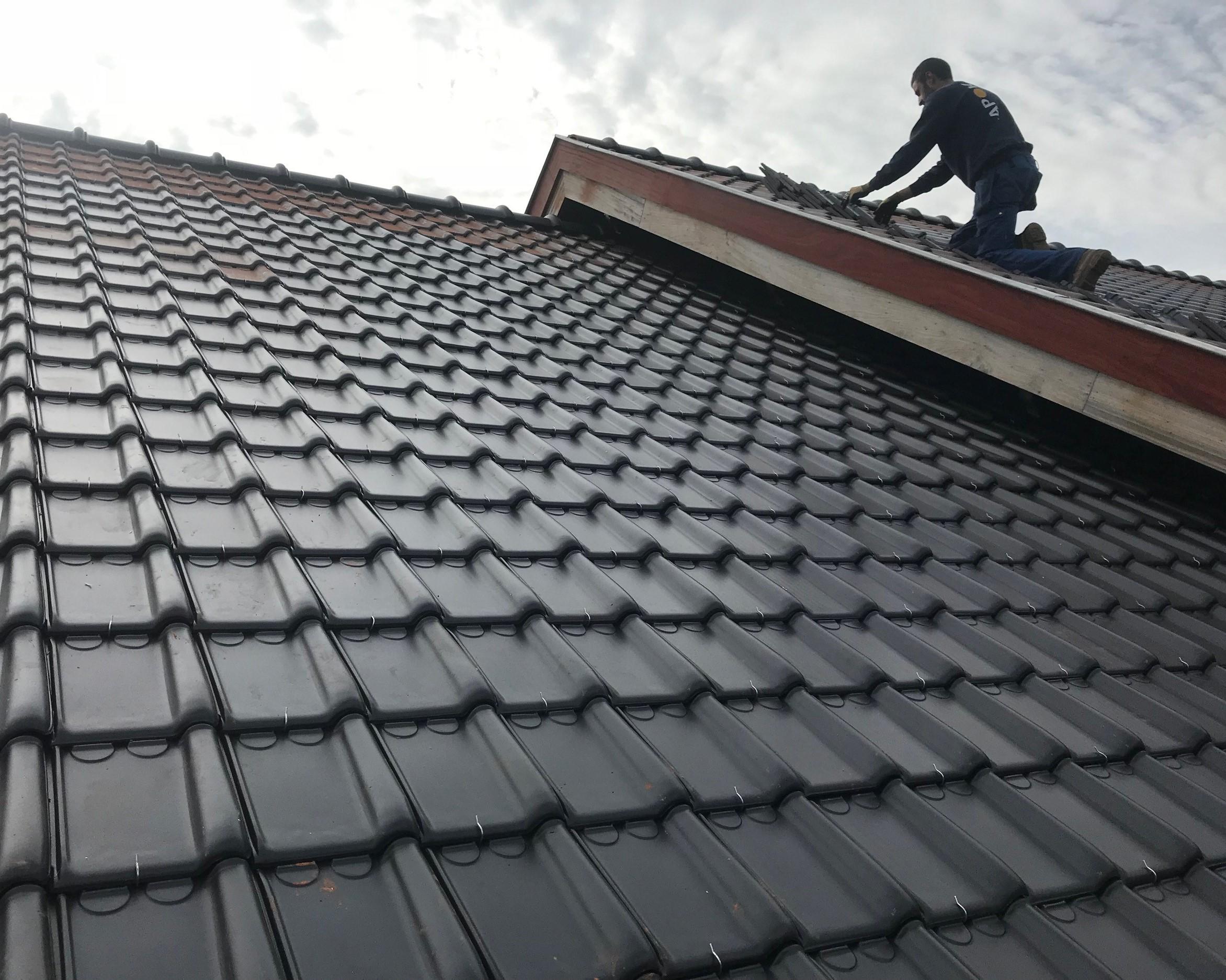 Dakbedekking in dakpannen