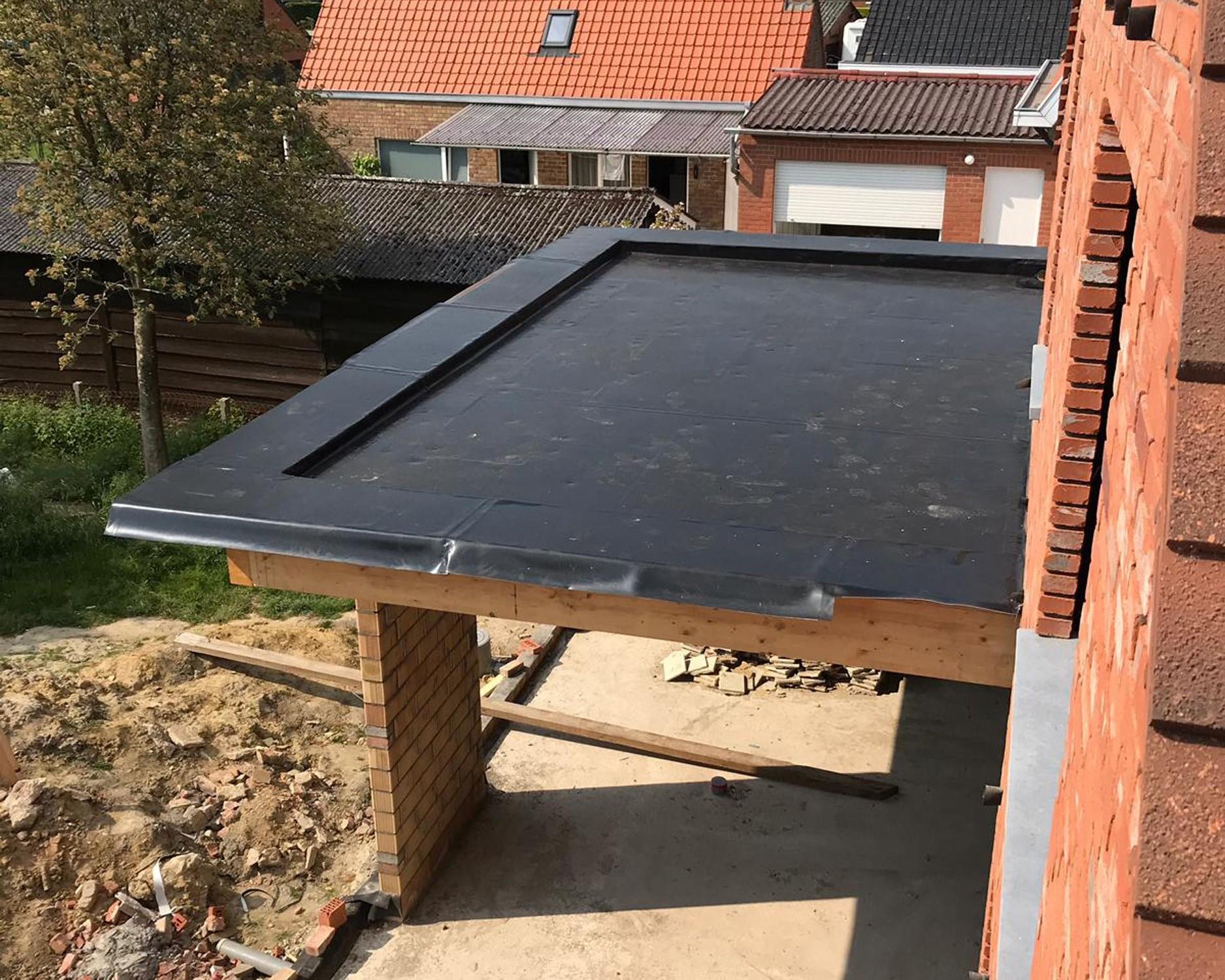 Nieuw Plat dak: dakconstructie