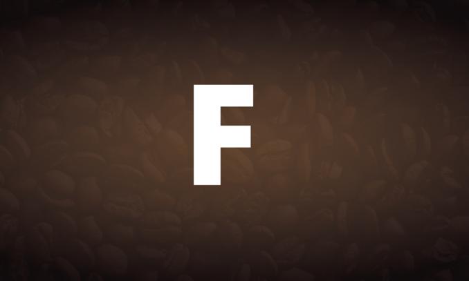 Koffiewoorden met een F