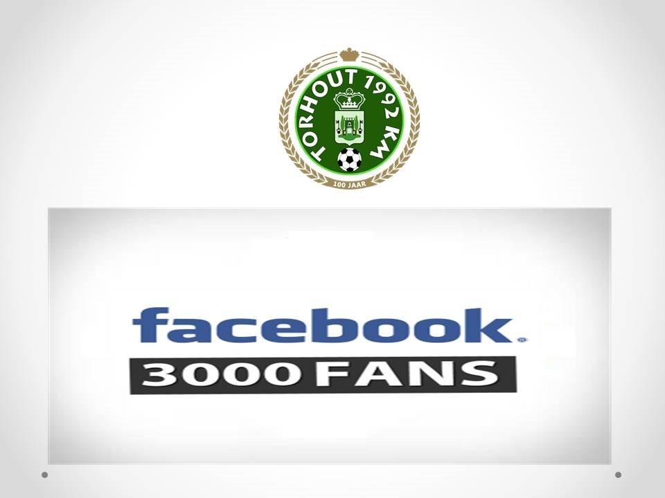 3000 fans op facebook