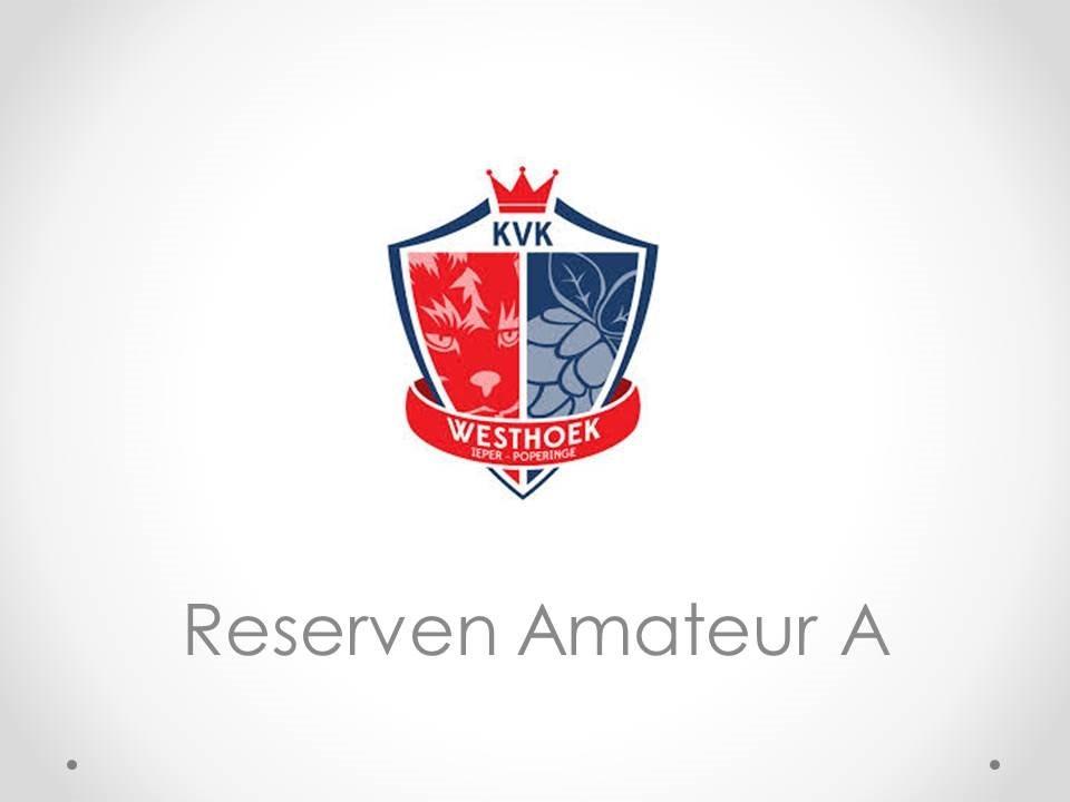 Reserven Amateur A - KVK Westhoek 3-4