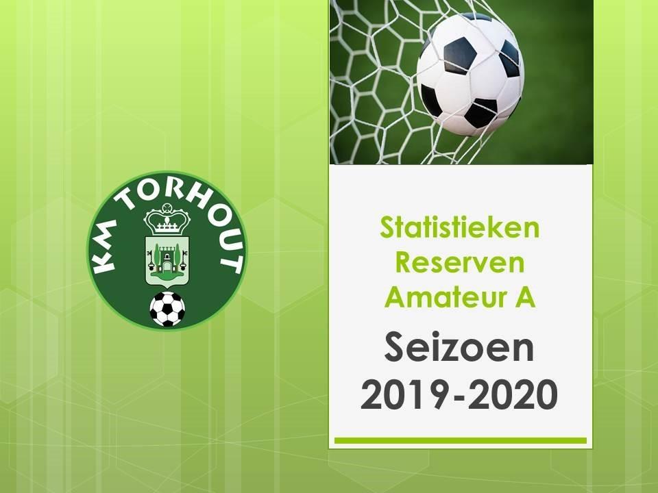 Statistieken Reserven Amateur A 2019-2020