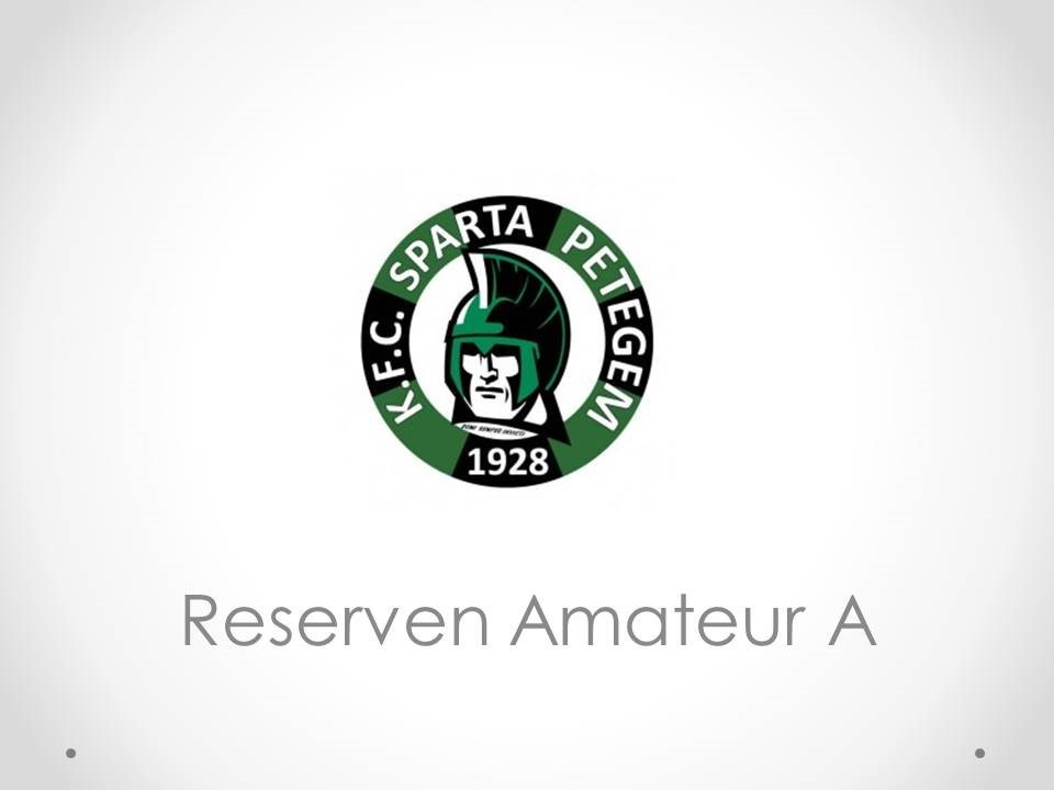 Reserven Amateur A - KFC Sparta Petegem 7-3