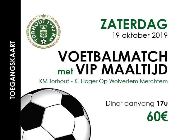 VIP maaltijd tegen Wolvertem-Merchtem