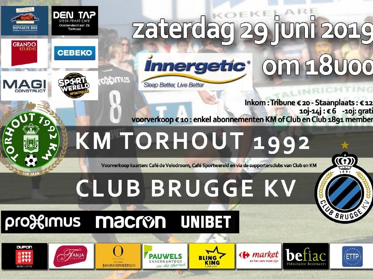 Torhout 1992 KM - Club Brugge KV 1-7