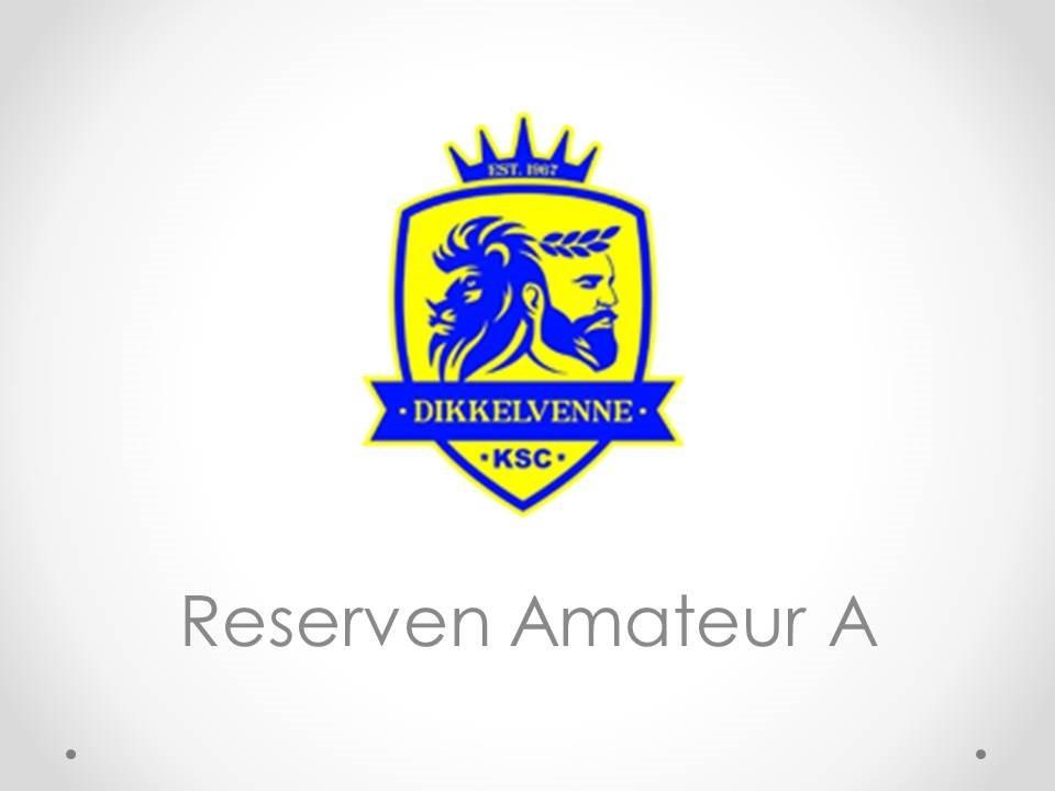 Reserven Amateur A - K.SC. Dikkelvenne A 2-1