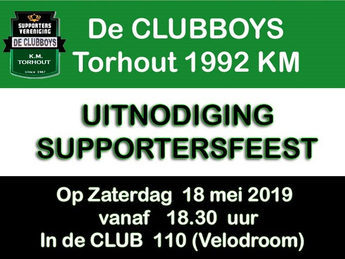 Supportersfeest De Clubboys