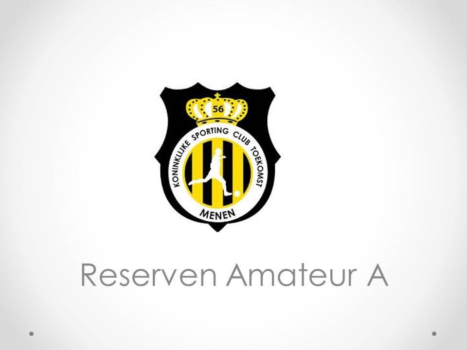 Reserven Amateur A - S.C.T. Menen 4-3