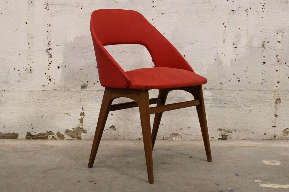 vintage chair red