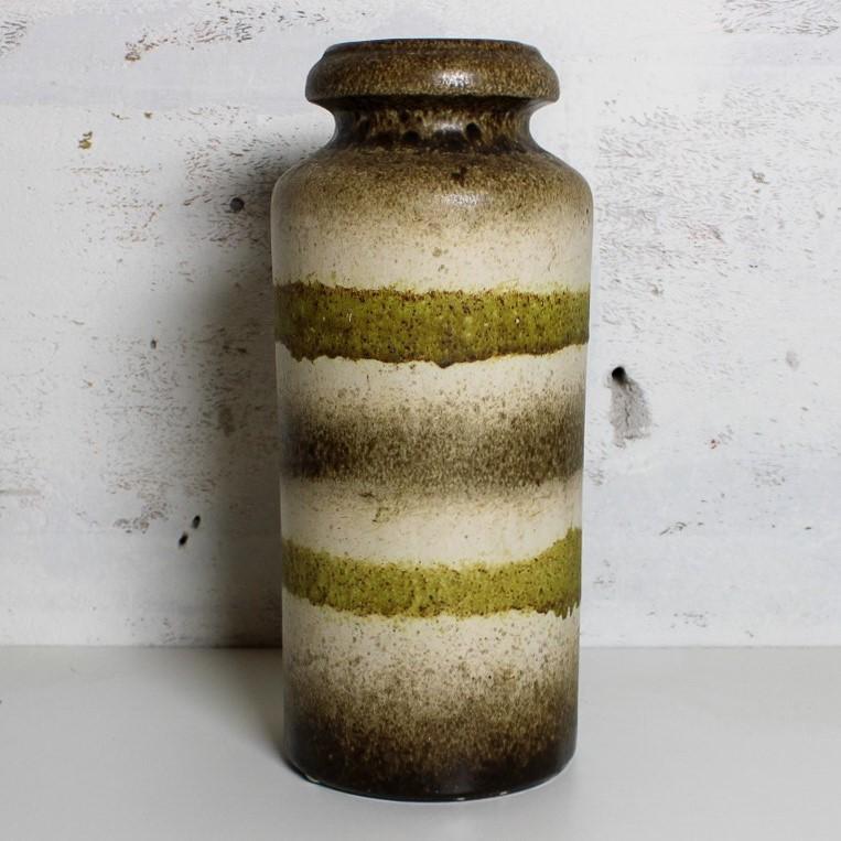 vase w-germany beige / green