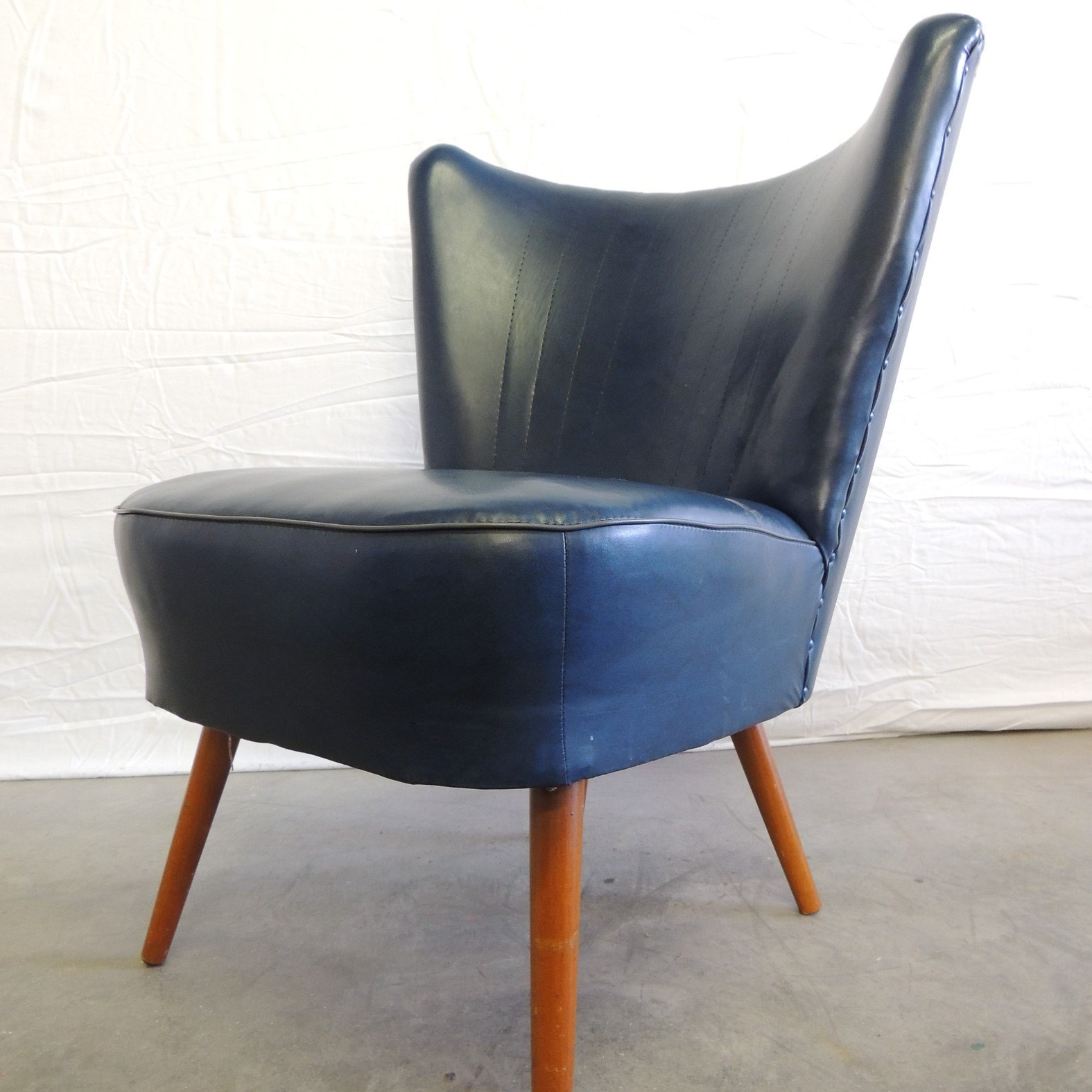 50s cocktail chair blue