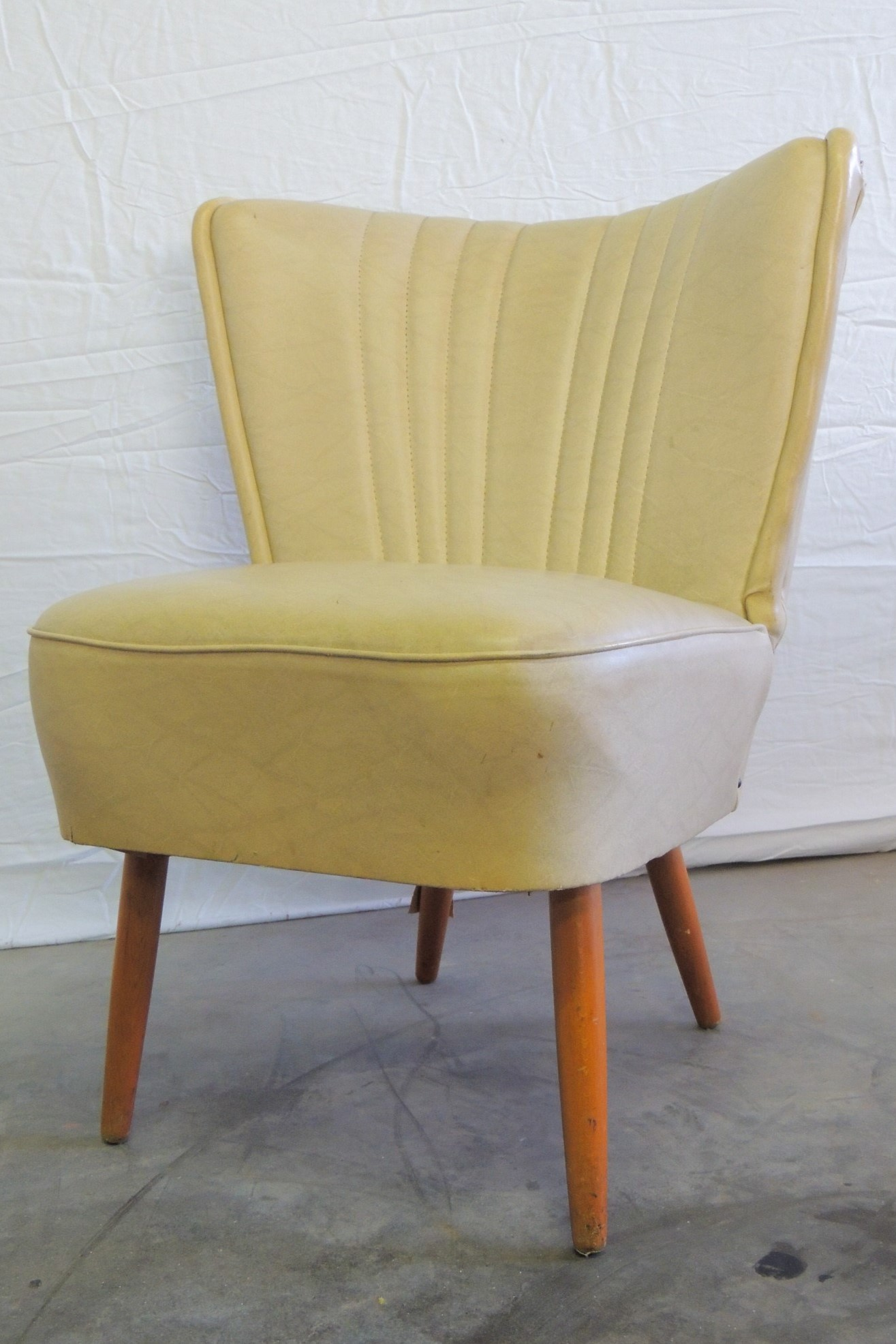 white 50s cocktail chair