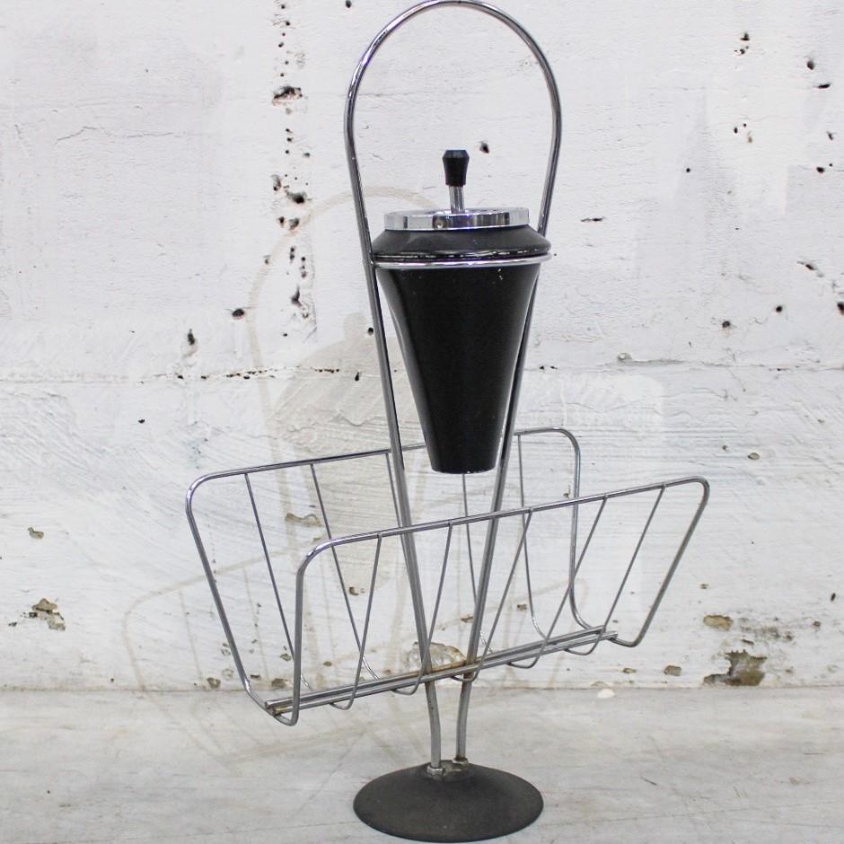 ashtray black/chrome
