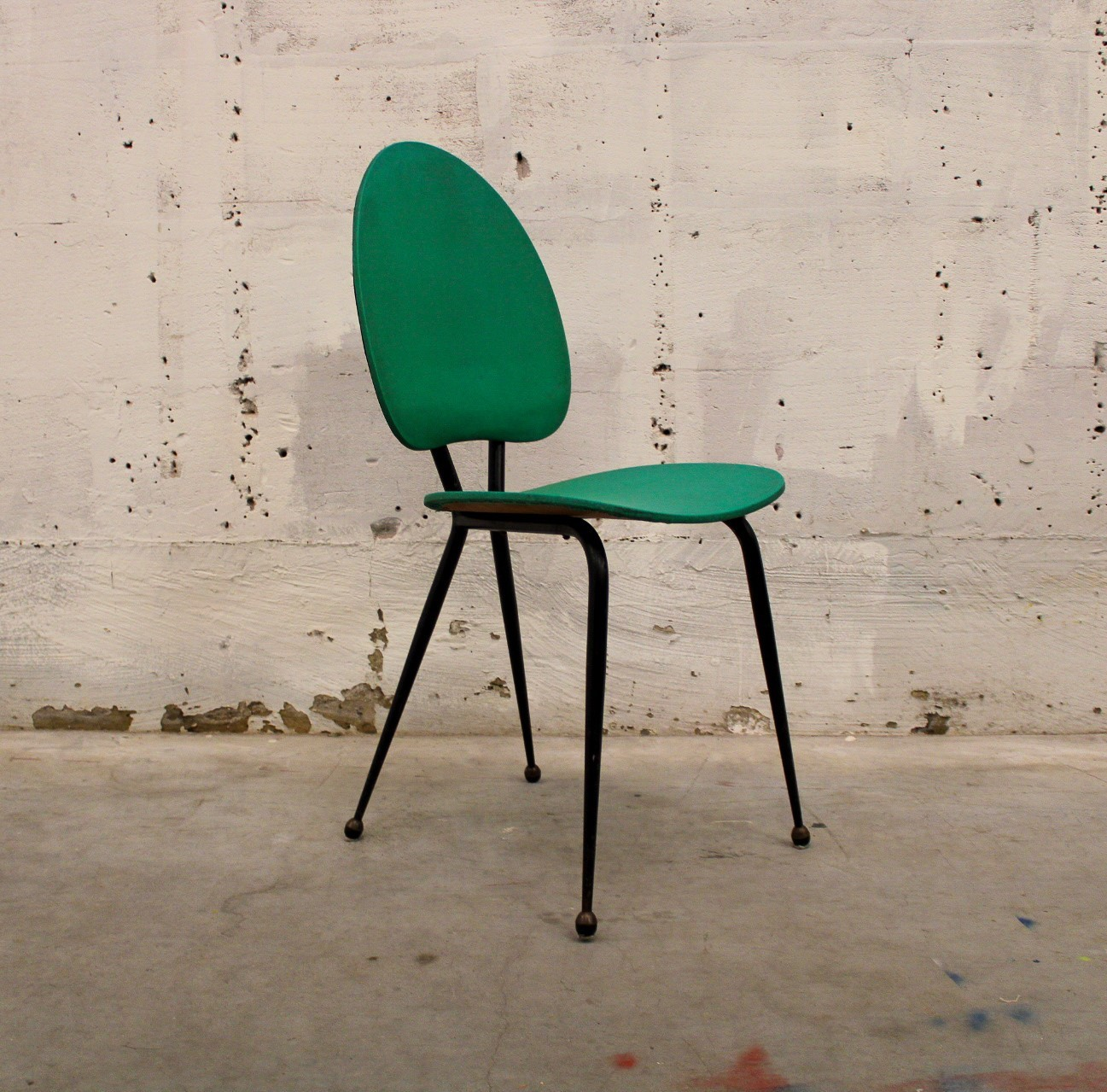 vintage chair green