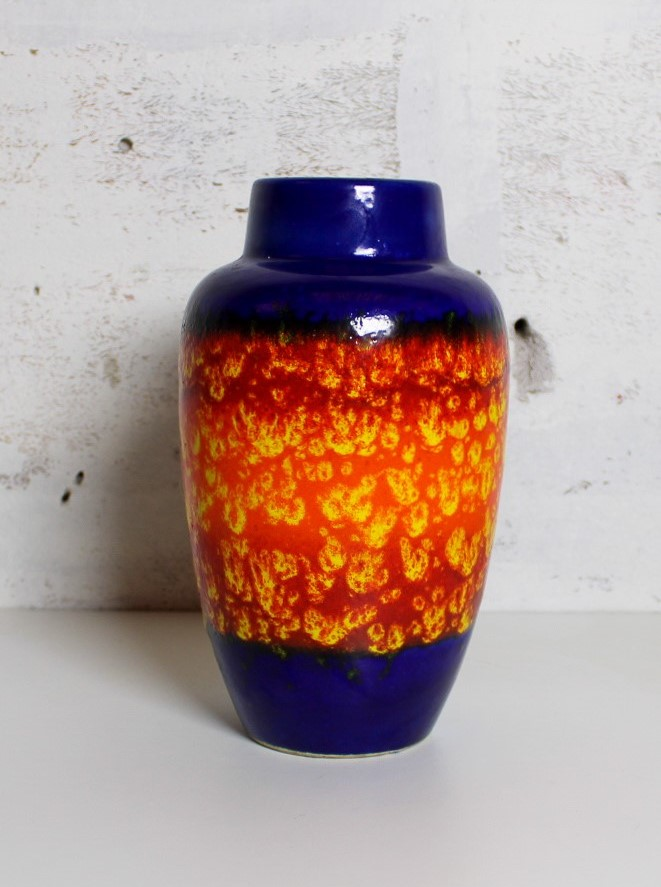 vase w-germany dark blue / orange