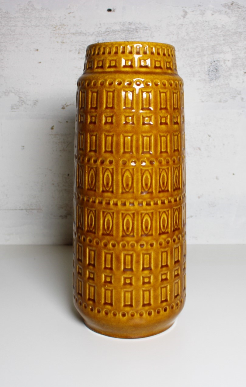 vase w germany ocher / brown