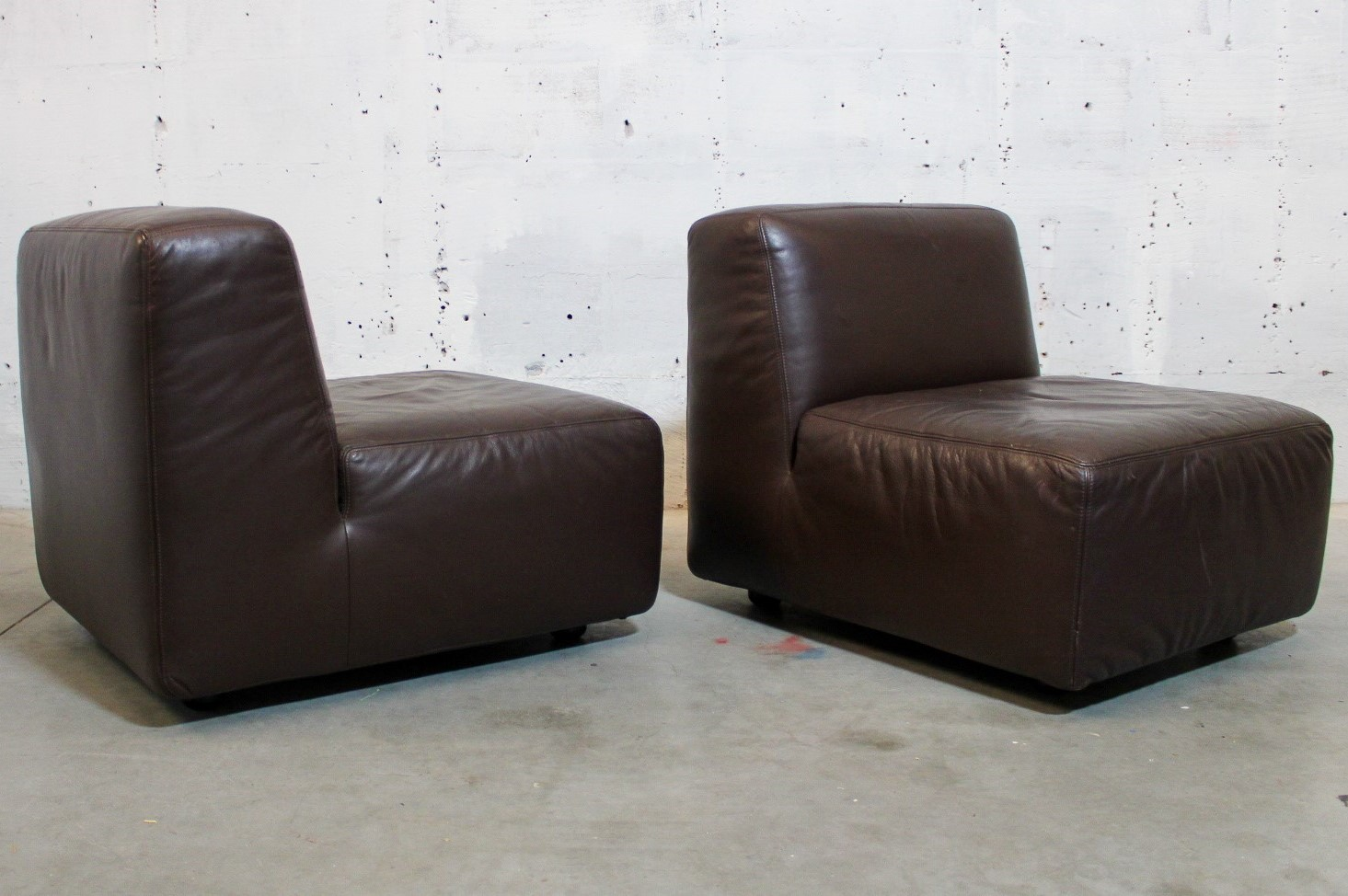 brown leather club seats
