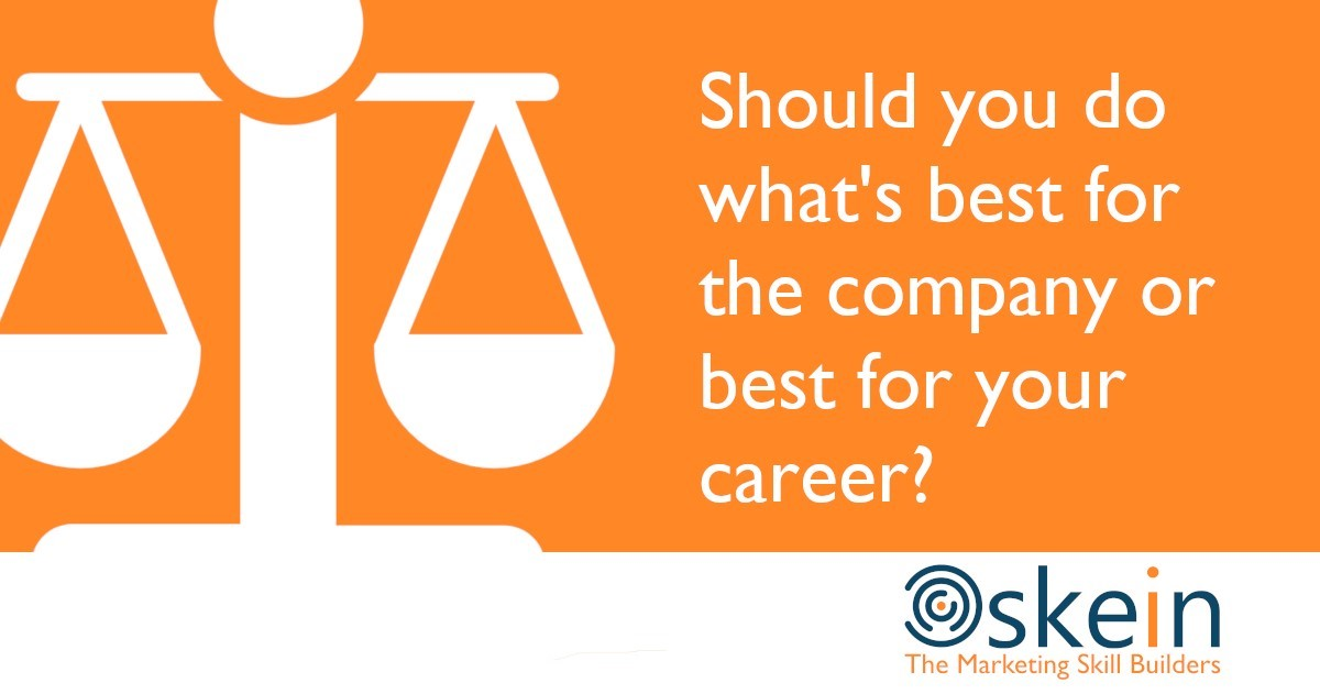 Should you do what's best for the company or best for your career?
