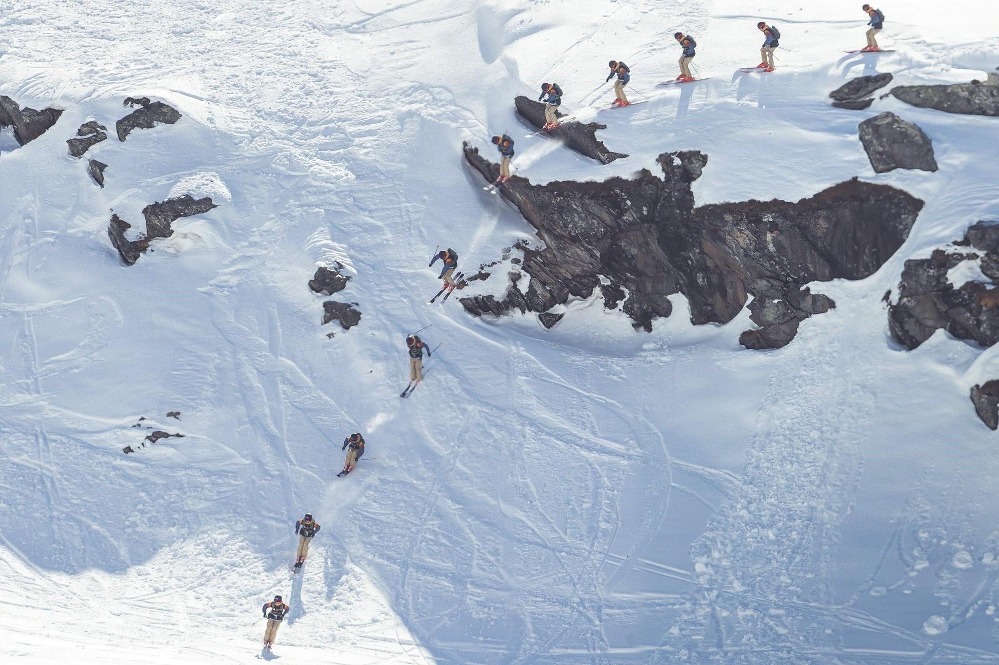 SPECTACULAIRE WEDSTRIJD #belgisch beste freeride ski & snow