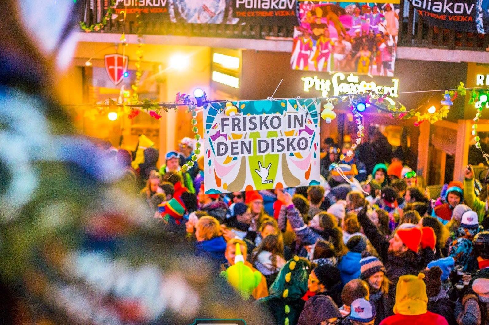 FRISKO IN DEN DISKO # neem het feesten niet al te serieus