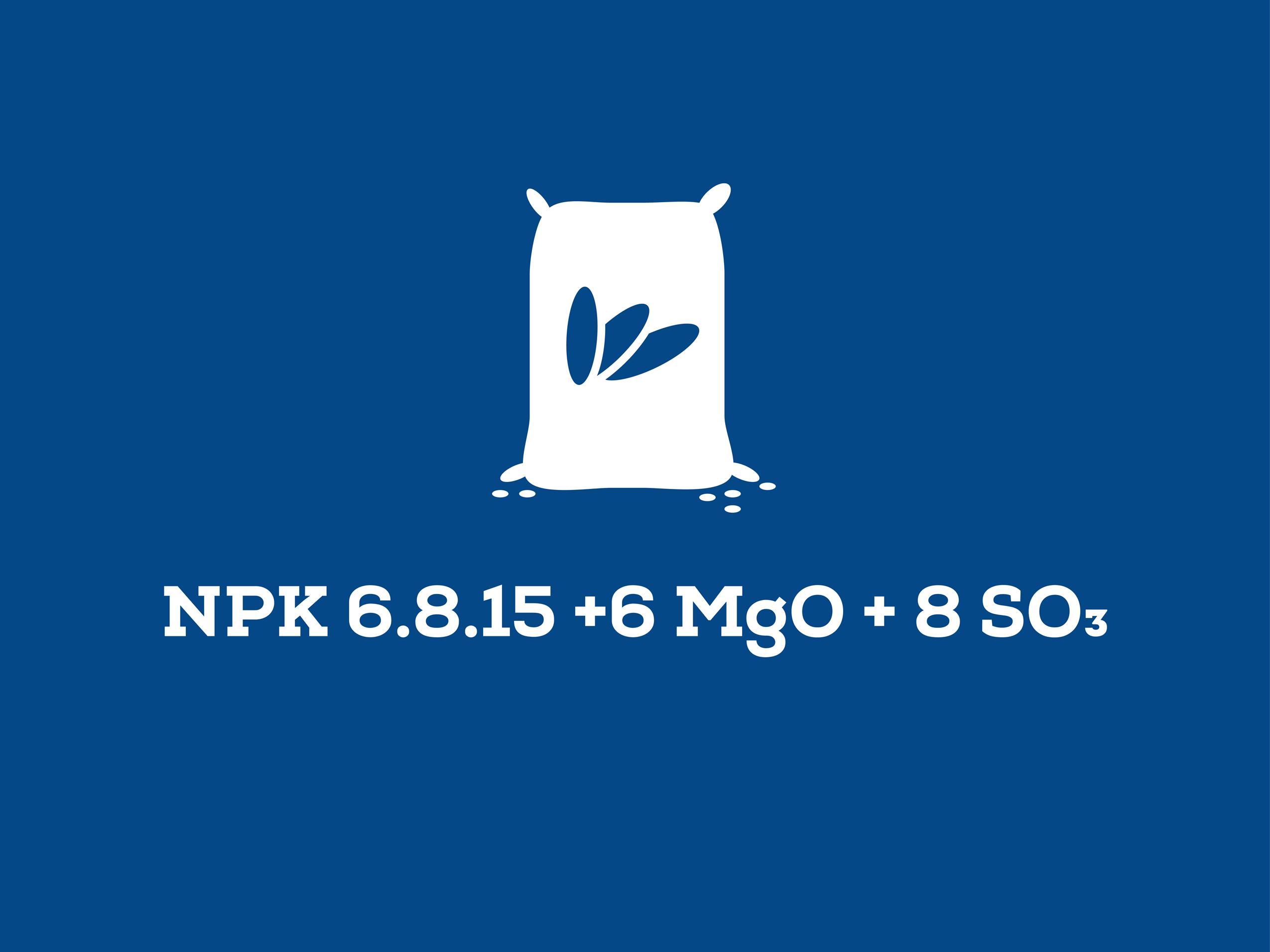 NPK 6.8.15 +6 MgO + 8 SO3